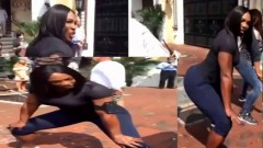 Serena Williams teaches random people how to Twerk