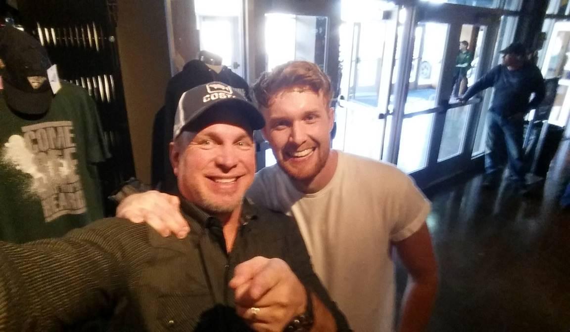 Diarmaid McGee with Garth Brooks