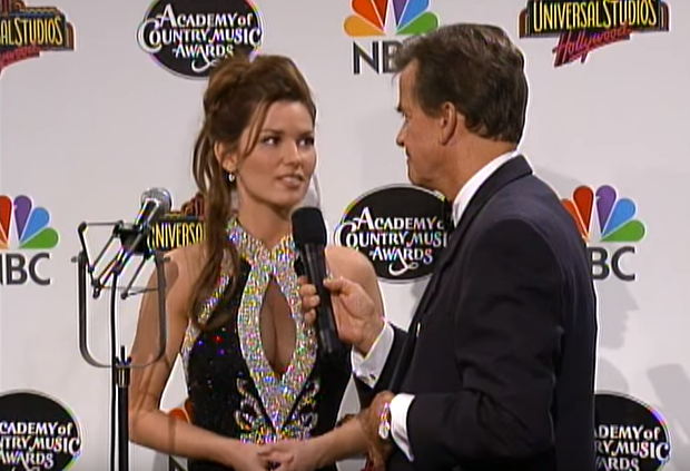 Dick Clark and Shania Twain