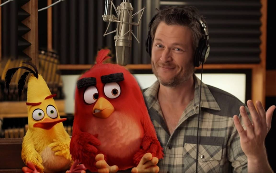 Blake Shelton and Angry Birds