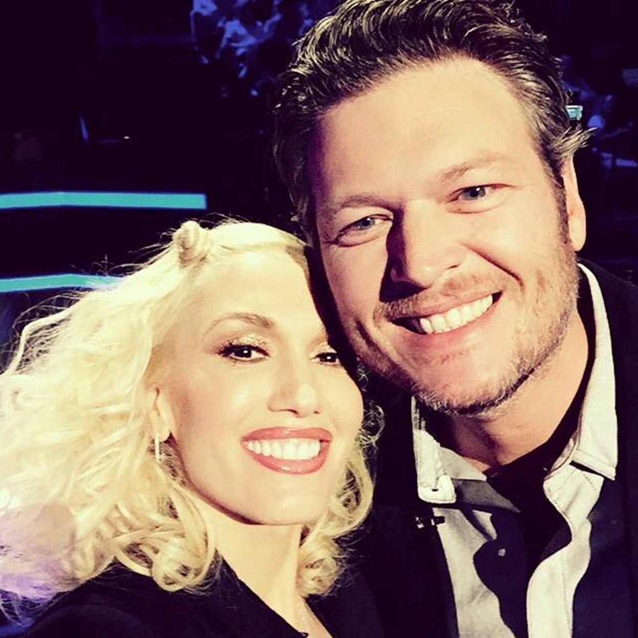 gwen stefani with blake shelton
