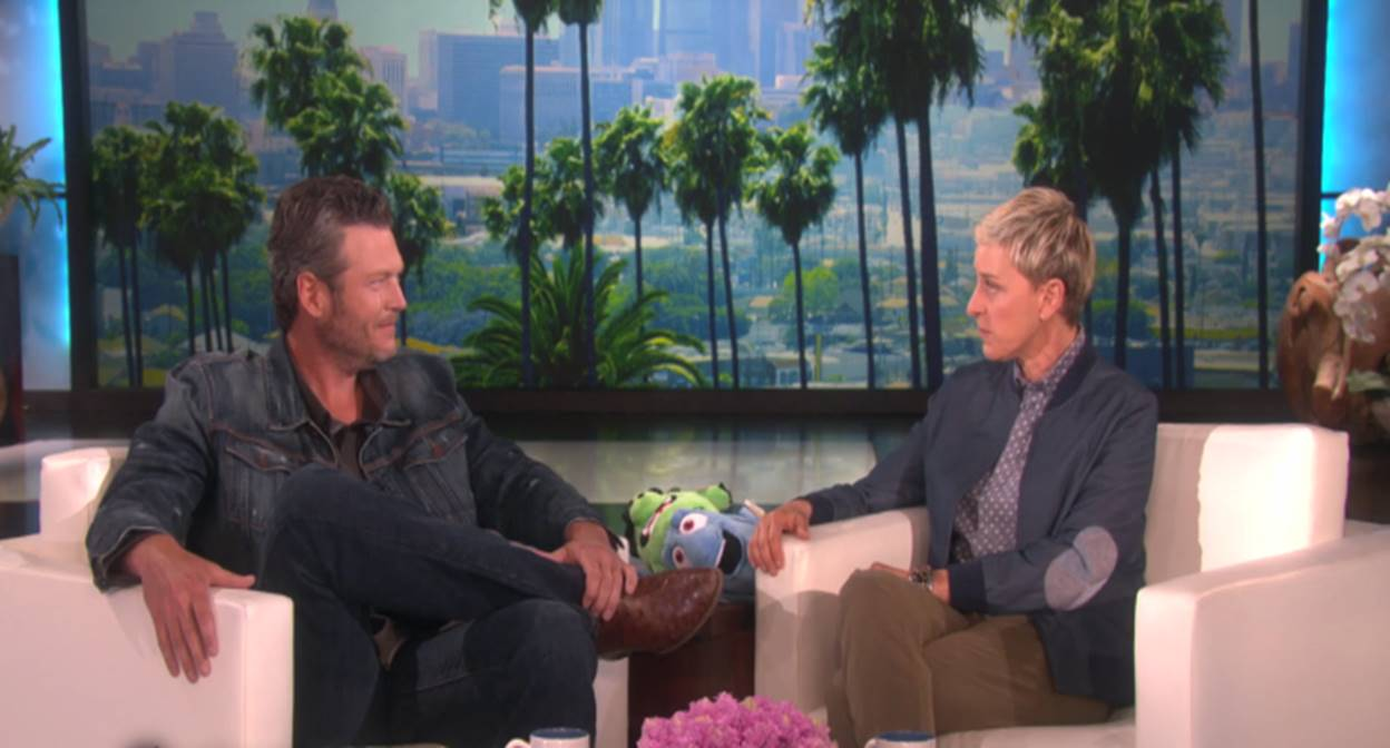 blake shelton and ellen degeneres