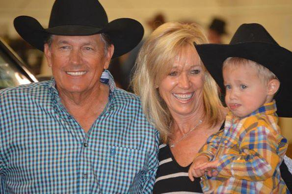 george strait with wife and grandson