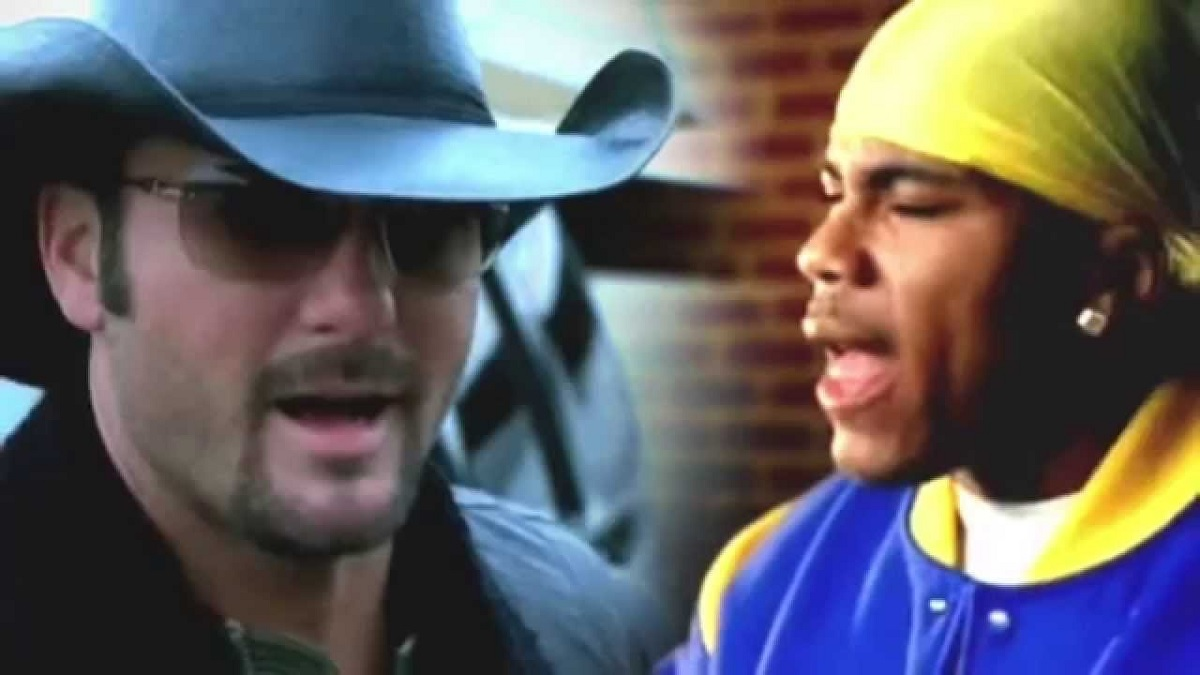"Tim McGraw tries out Country Rap with Nelly for ""Over and Over"" Song"