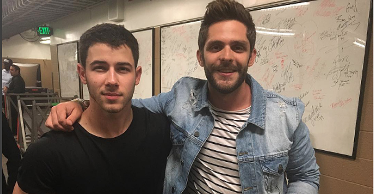 Thomas Rhett & Brad Paisley Join Nick Jonas & Demi Lovato Onstage