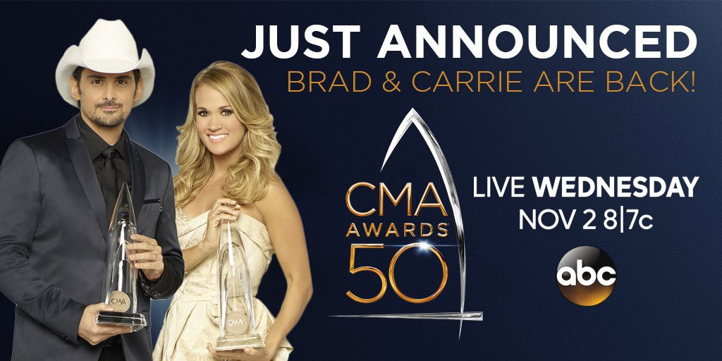 Carrie and Brad CMA Awards 2016