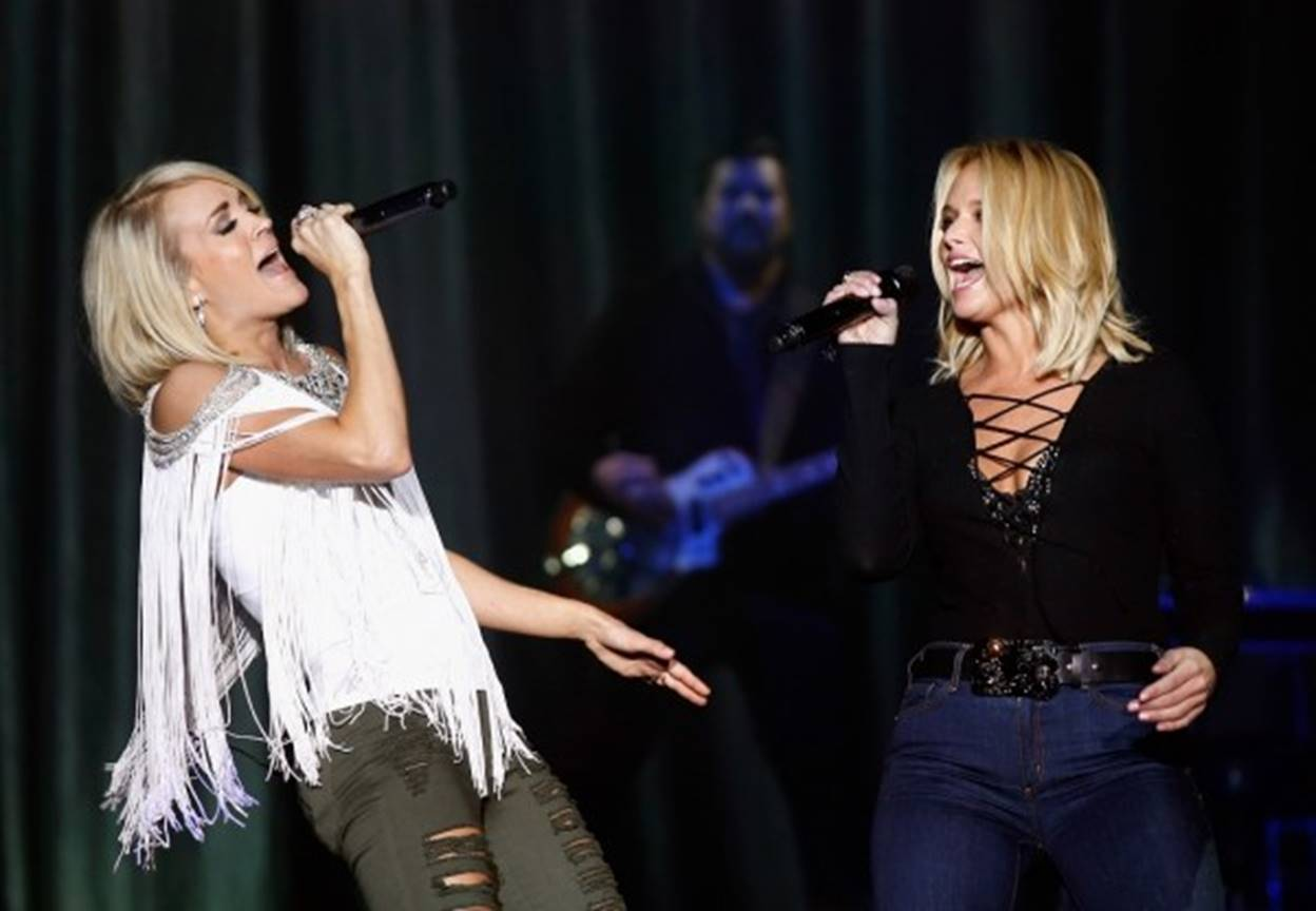 acm party for a cause 2016 carrie underwood and miranda lambert