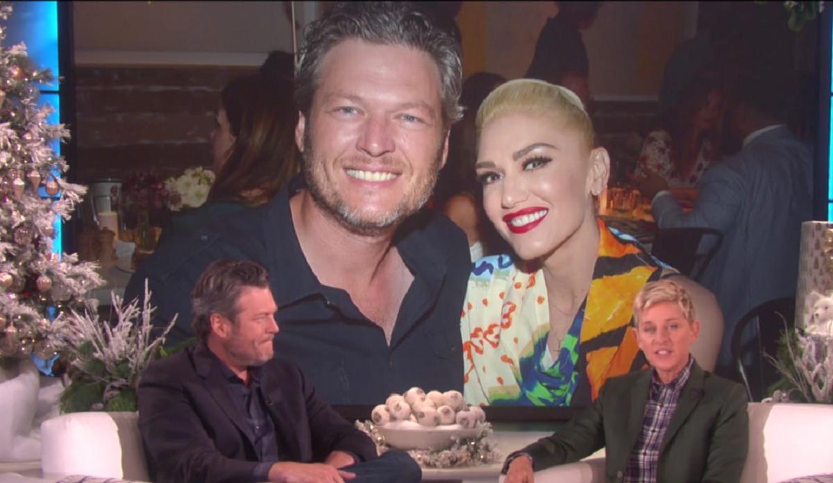 Blake Shelton Gwen Stefani, ellen show