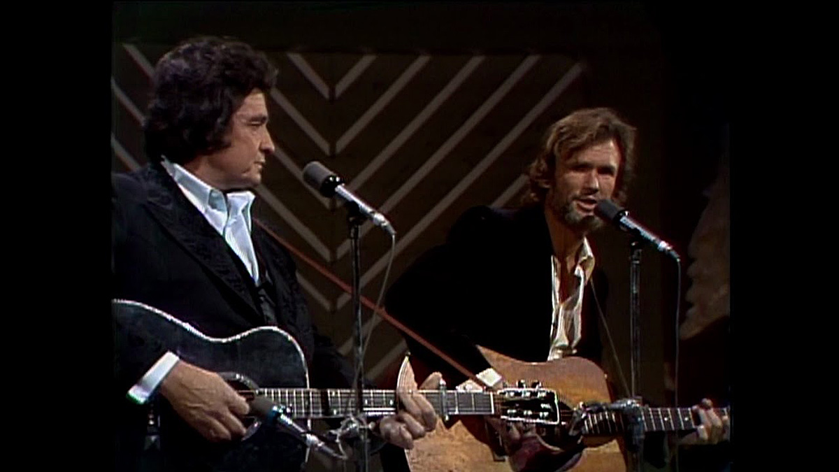 Kris Kristofferson and Johnny Cash Sunday Mornin' Comin' Down