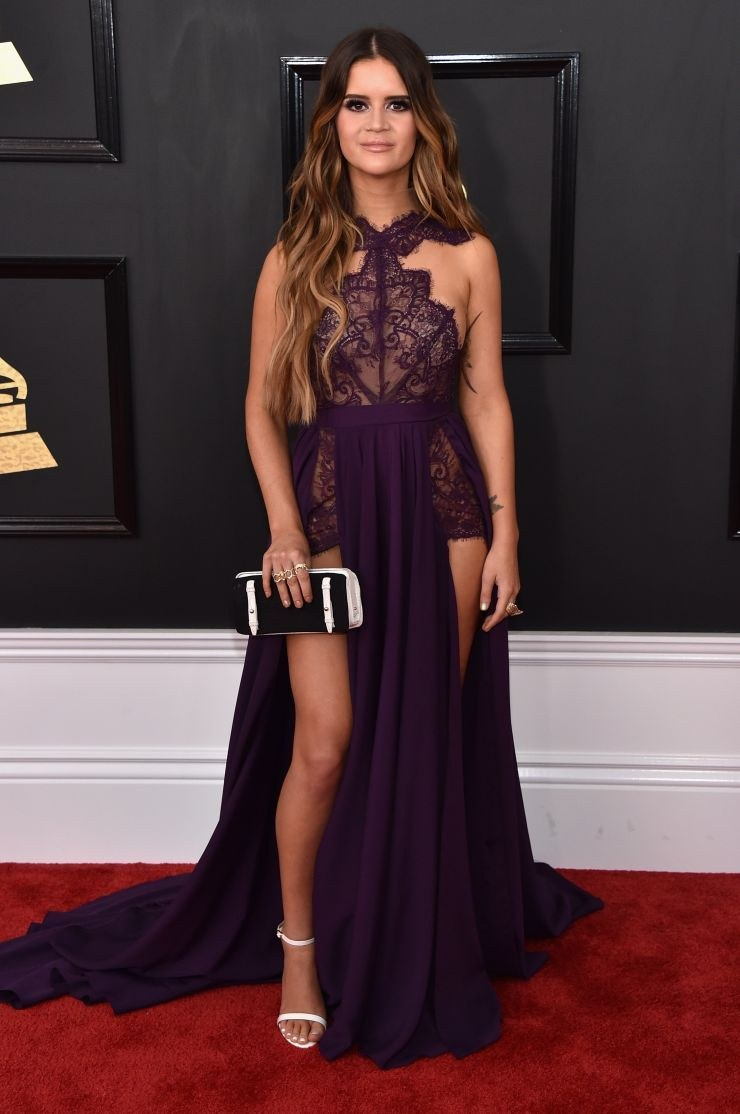 maren morris, 2017 grammy awards red carpet