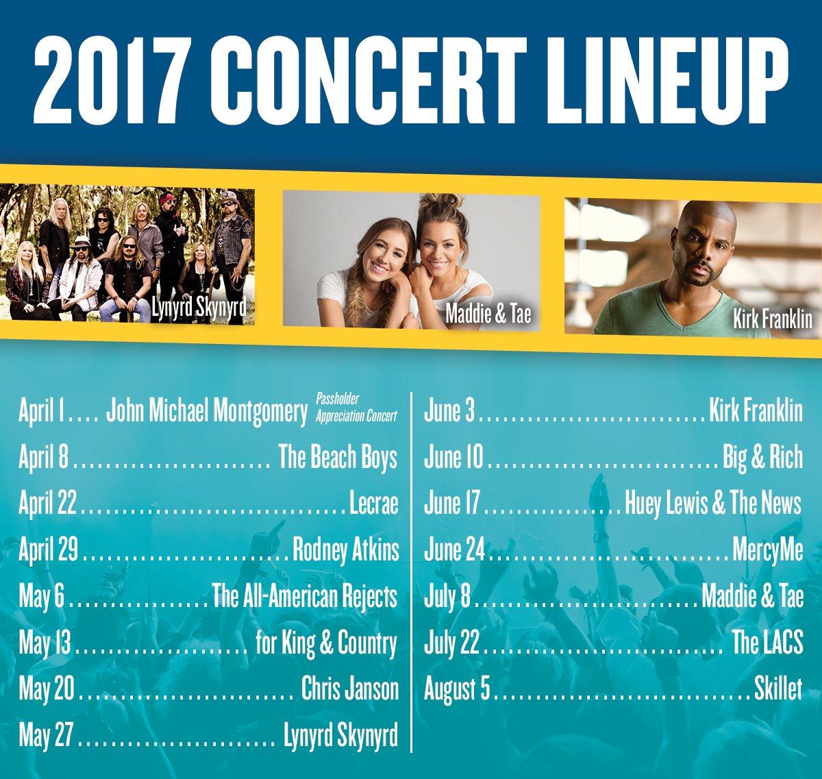 Wild Adventures Theme Park 2017 Concert Lineup
