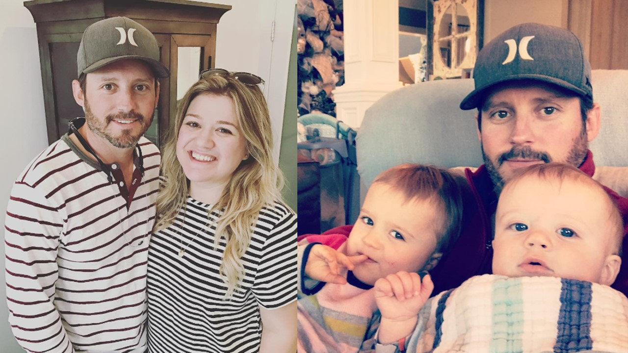 Kelly Clarkson with her husband  Brandon Blackstock and her two children