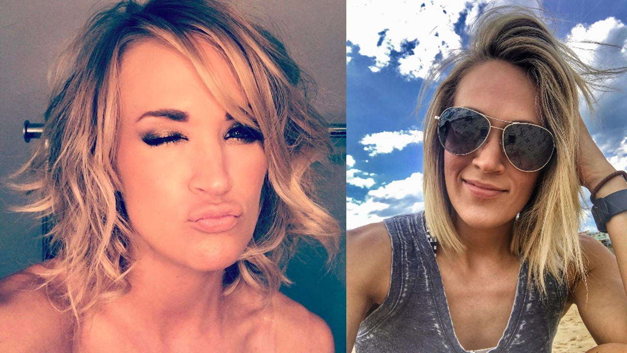 carrie underwood makeup-free