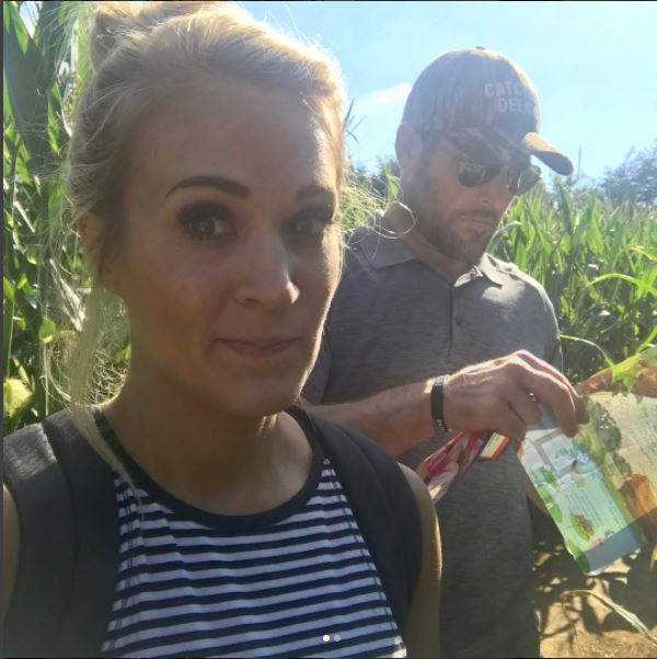 carrie underwood family corn maze