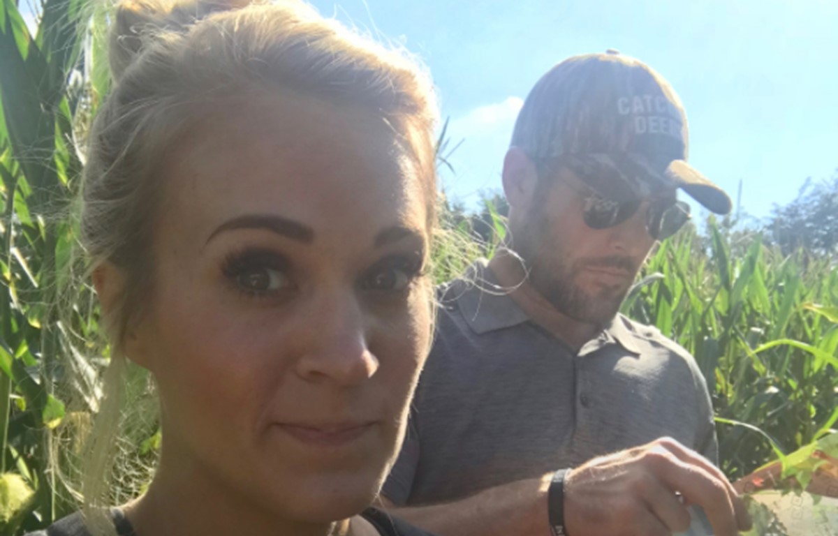 Carrie Underwood Shares Family's Fall Shenanigans