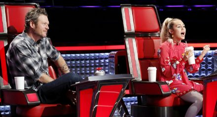 Blake Shelton and Miley Cyrus