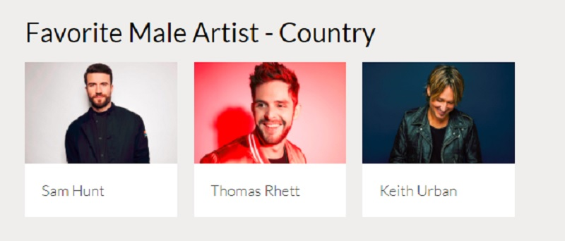 Favorite Male Artist Country