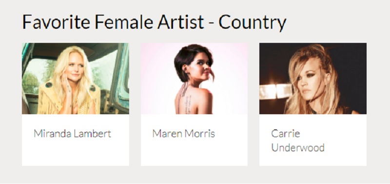 2017 AMAs Female Country Artists