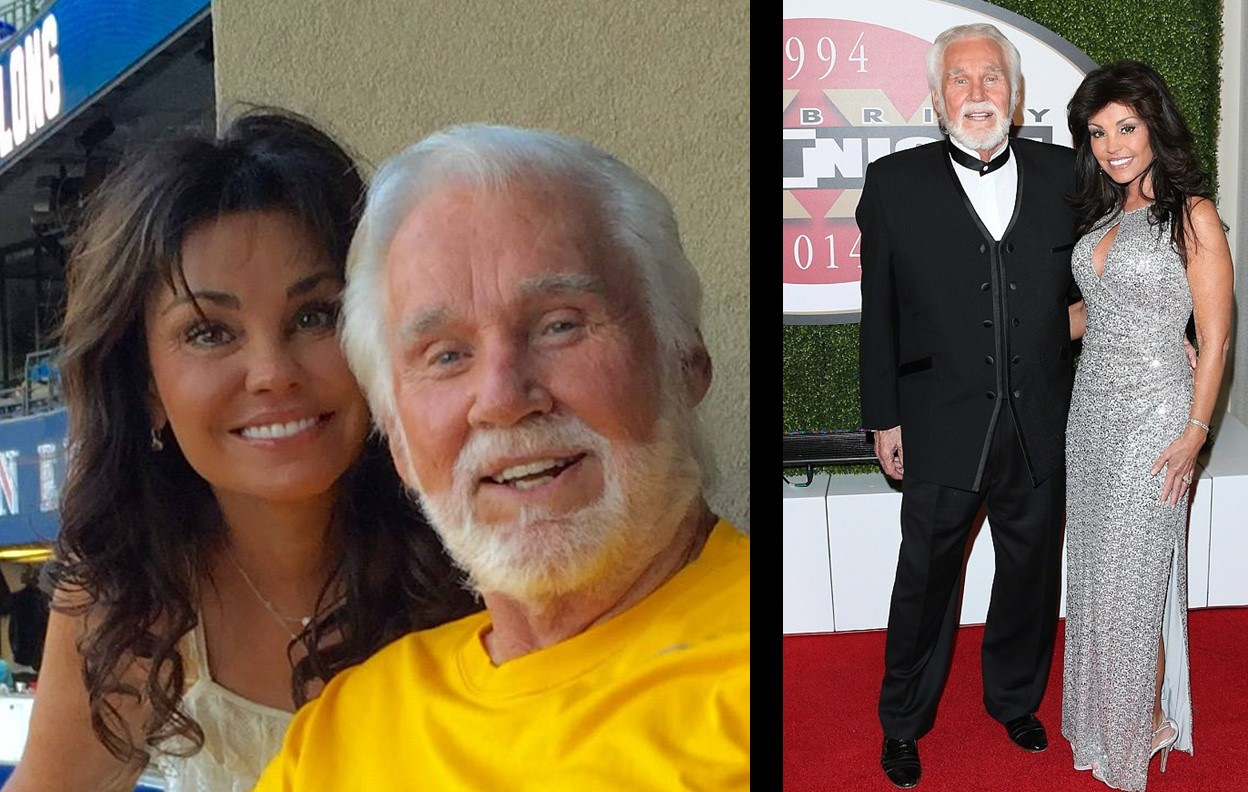 Kenny Rogers with beautiful, Wife Wanda Miller