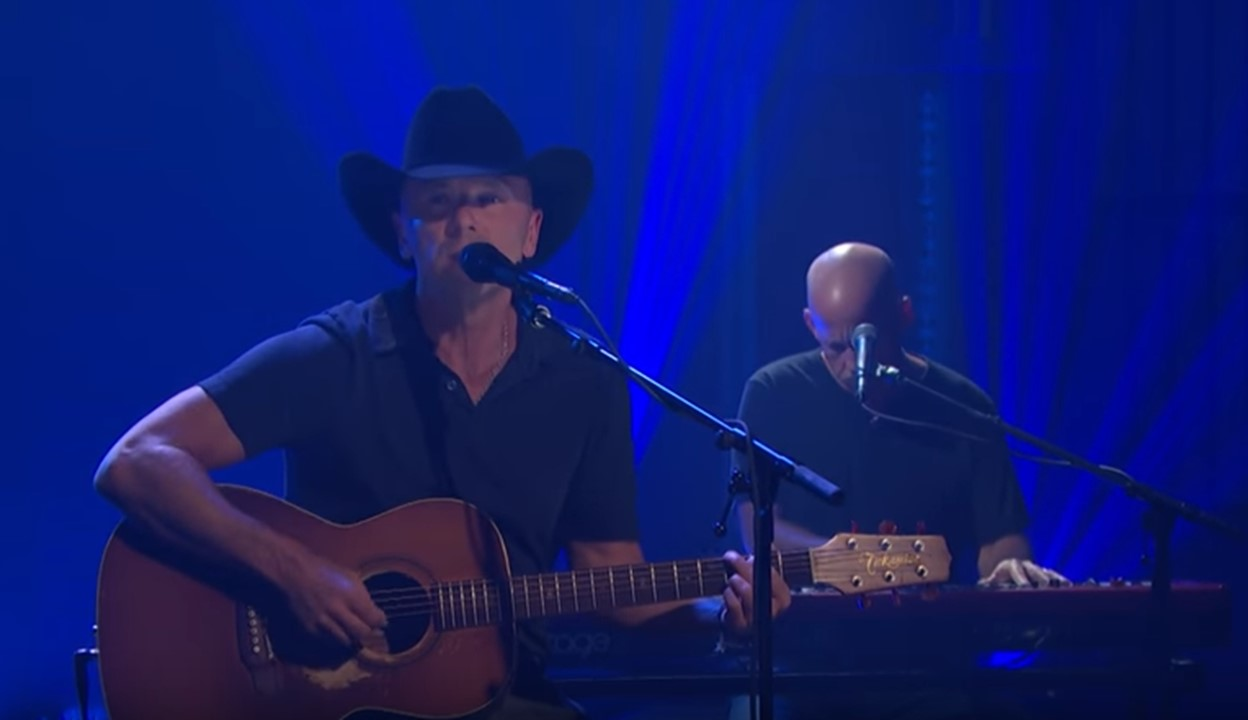 "Watch Kenny Chesney Take ""Jesus and Elvis"" to Late Night Television"