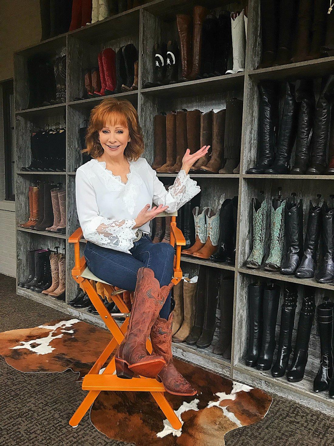 reba mcentire boot collection