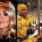 Carrie Underwood & Isaiah Show Mike Fisher the Hockey Love [Pics]