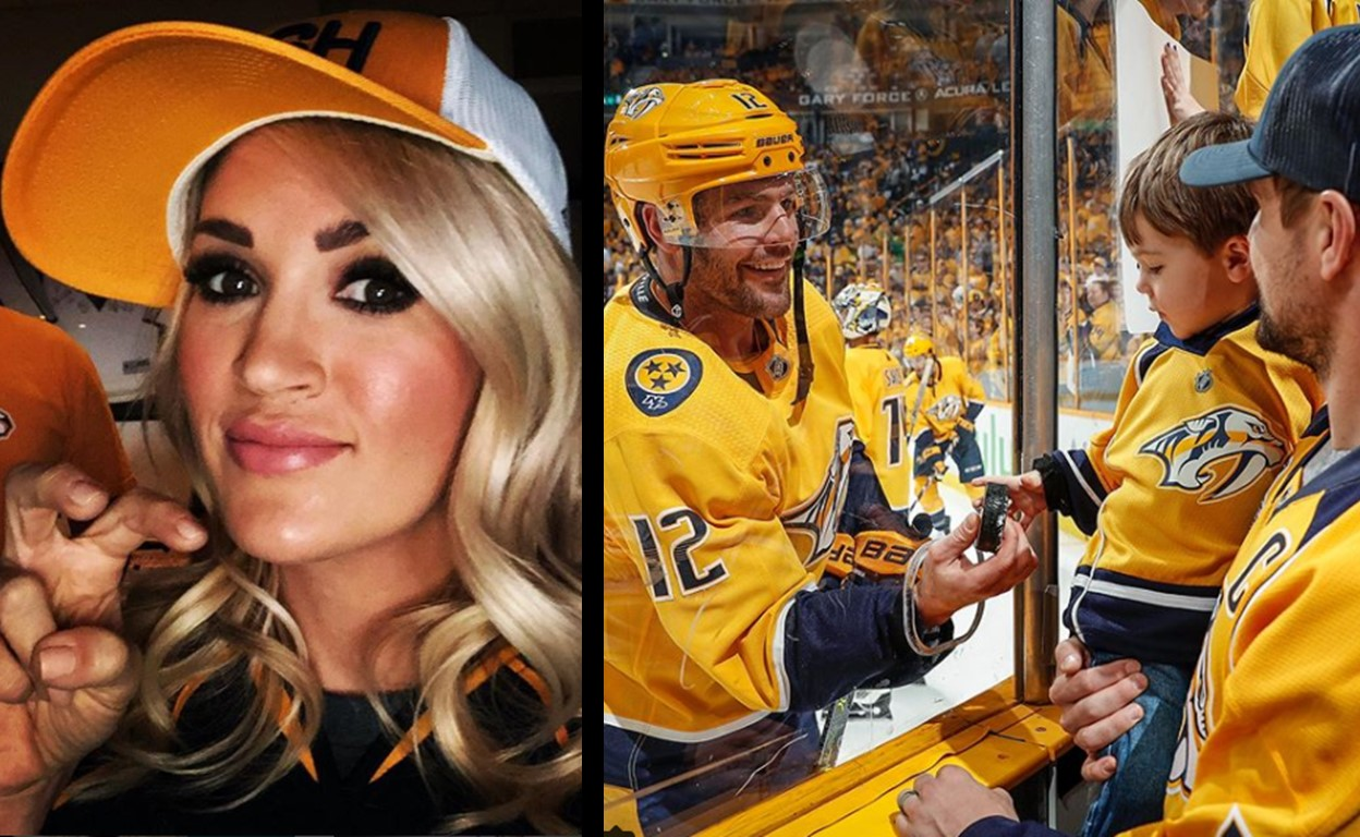 mike fisher carrie underwood hockey