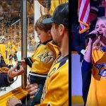 carrie underwood son national anthem