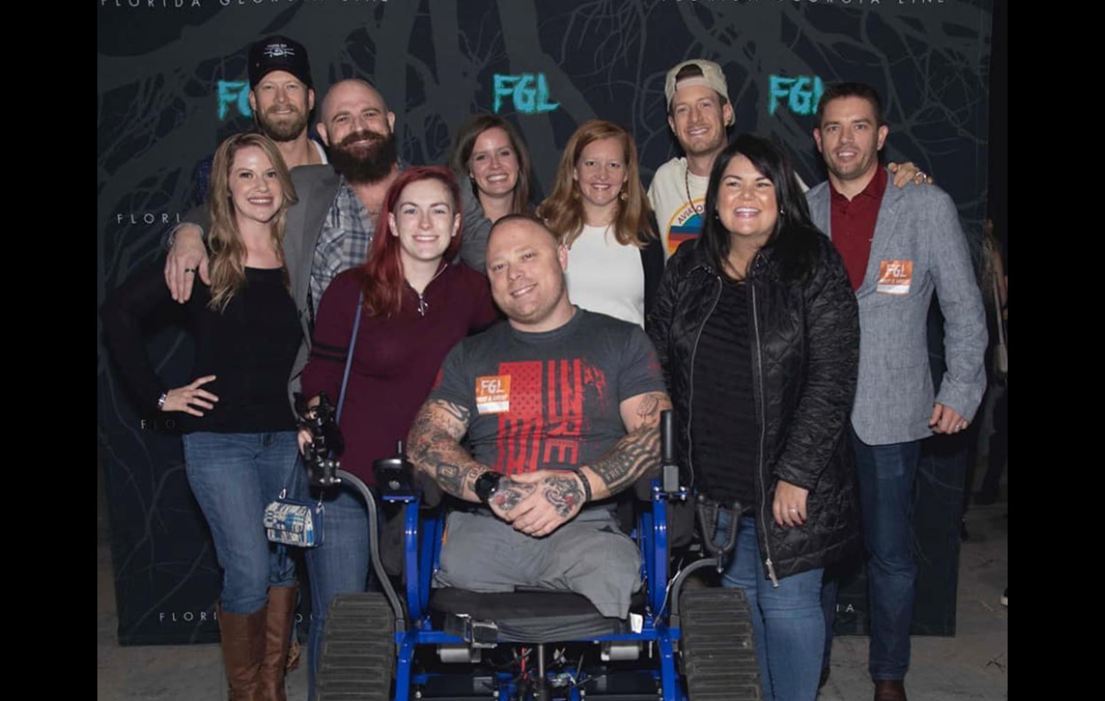 Florida Georgia Line Helps Give Veteran New Specialized Wheelchair