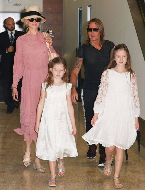 keith urban nicole kidman daughters television