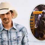 brad paisley bucked off rodeo