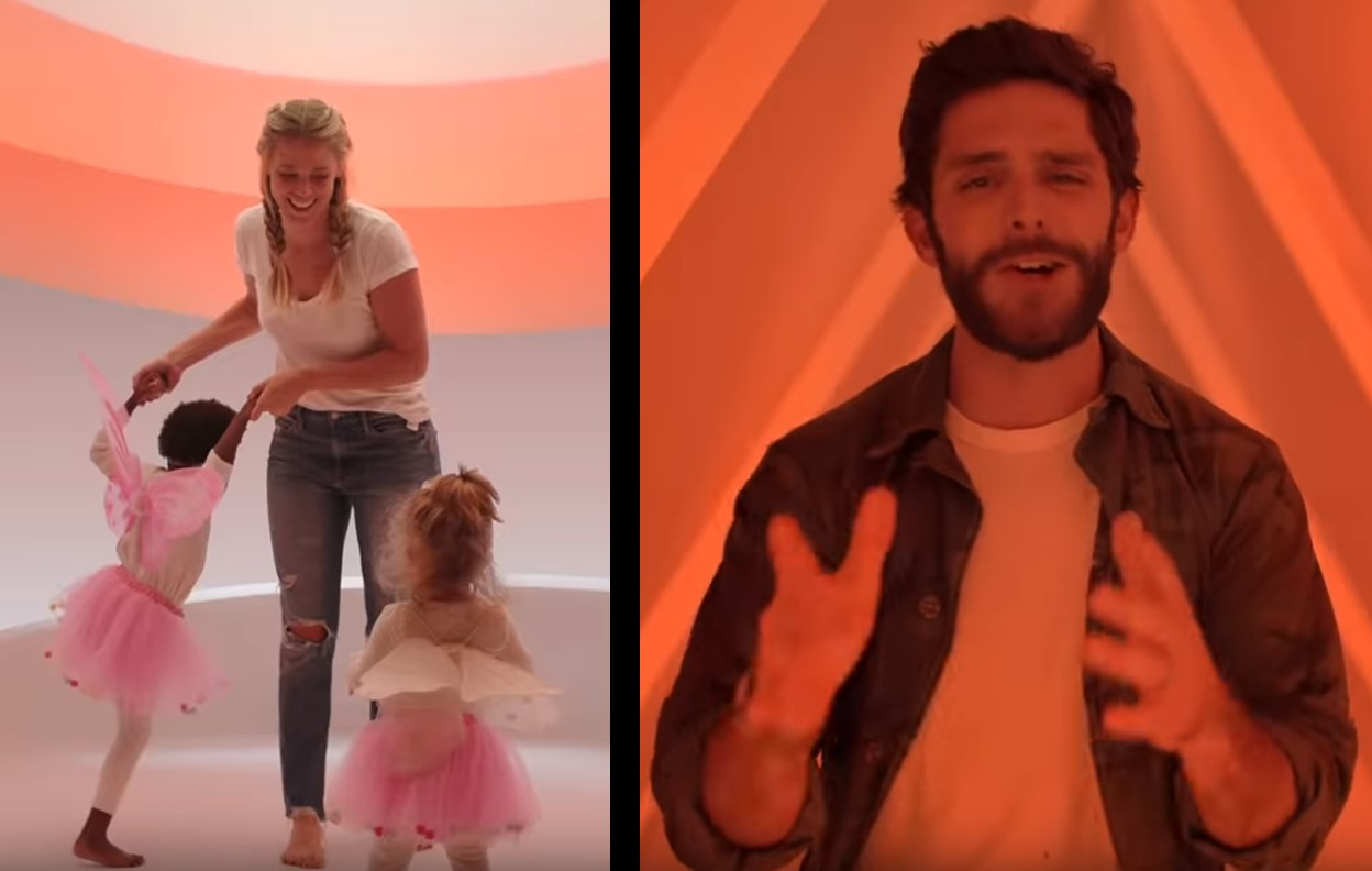 thomas rhett's look what god gave her music video