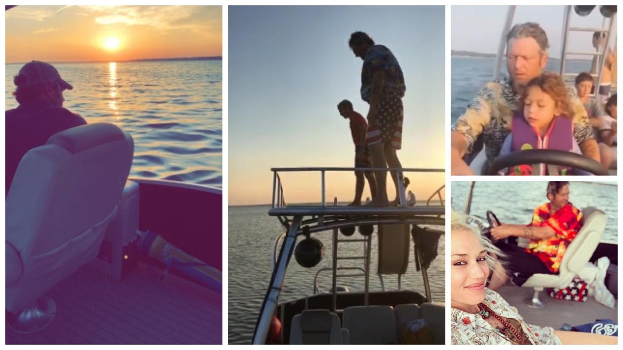 Blake Shelton Boating
