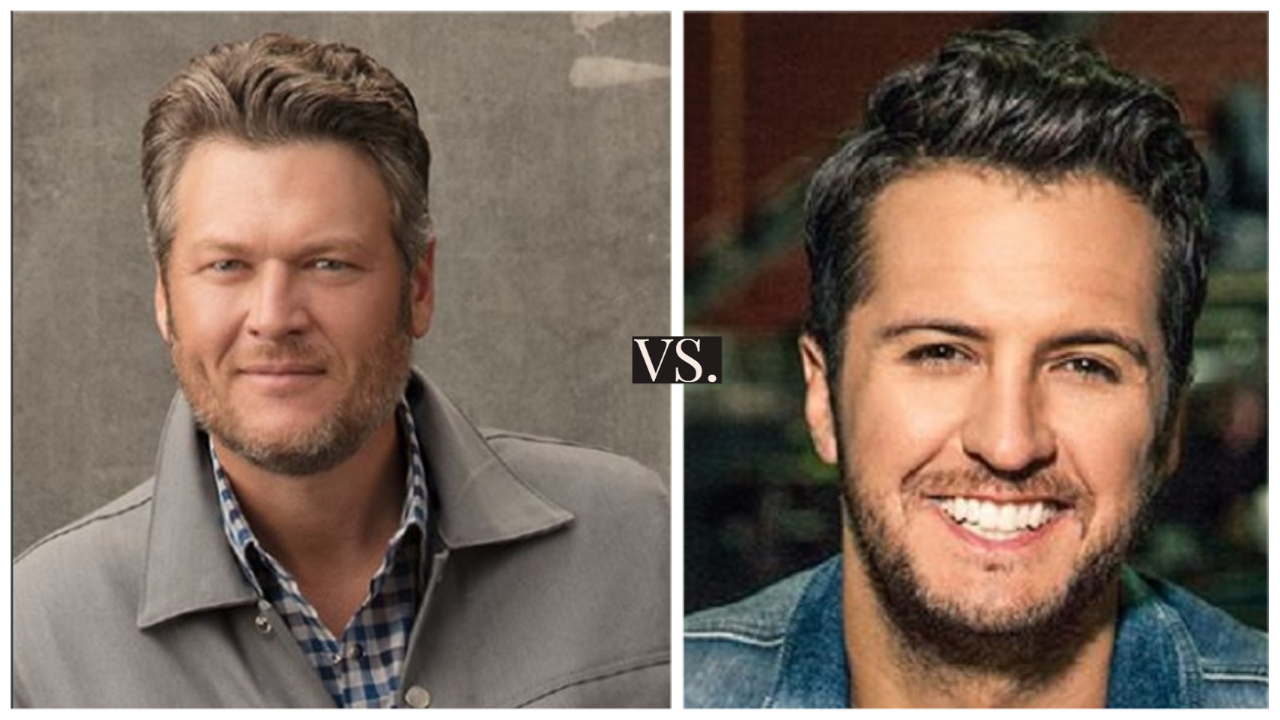 Blake Shelton versus Luke Bryan