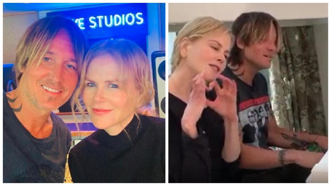 Keith Urban and Nicole Kidman Singing