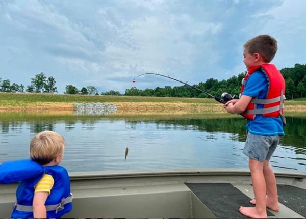 Isaiah and Jacob Fishing