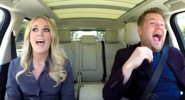 Carrie Underwood Sings Carpool Karaoke with James Corden