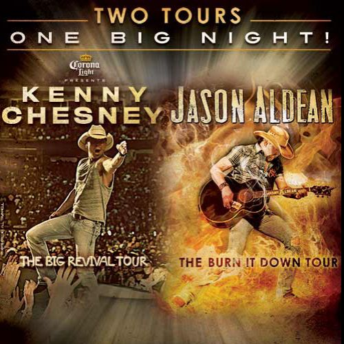Kenny Chesney and Jason Aldean
