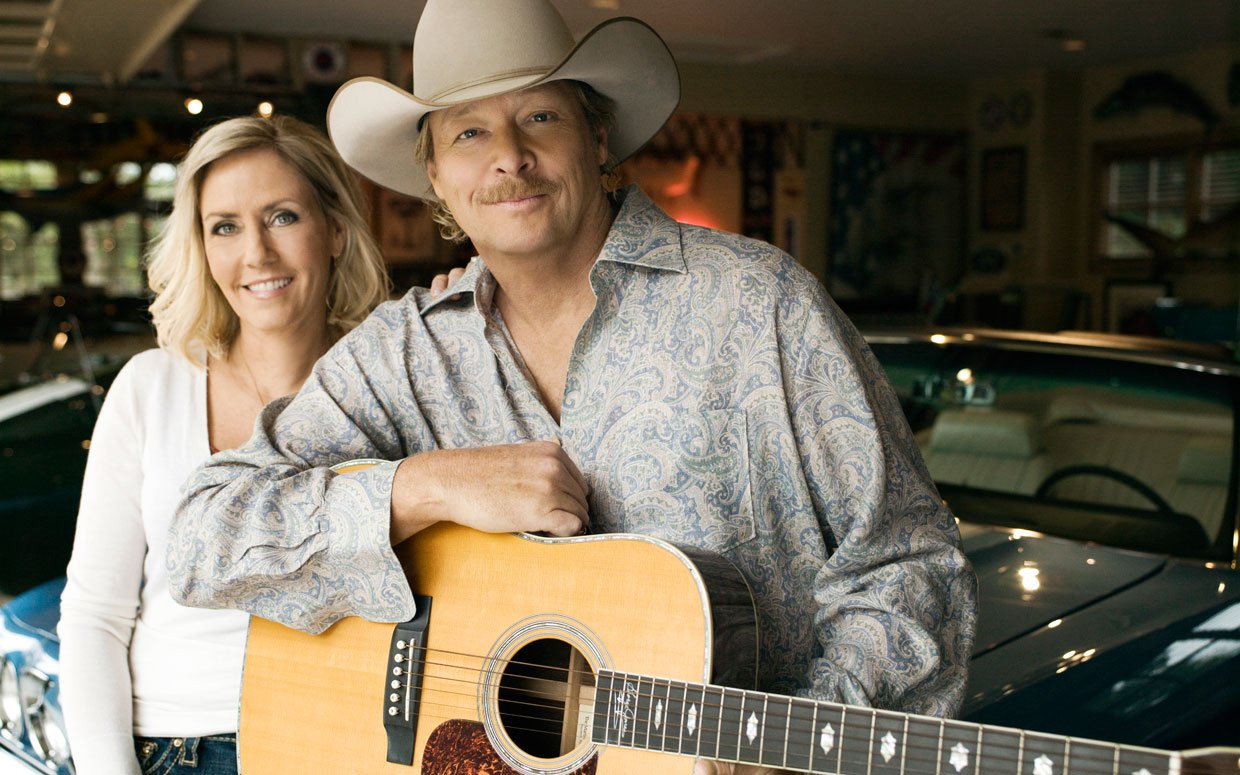 alan jackson with wife denise jackson