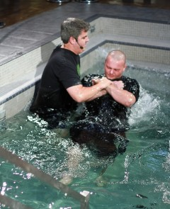 NewSpring Church, headed by Pastor Perry Noble, celebrated nearly 300 baptisms during Sunday services across its campuses in South
