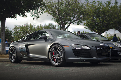 The Audi photo of the week comes courtesy of Axion23 on Flickr; a stunning matte black R8 that makes your heart beat ten times faster just