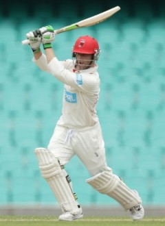 Hughes taken to hospital after blow to head